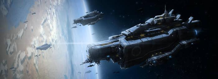 Space Ship 03 by TheUncannyKen