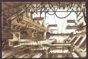 Industrial city by TheUncannyKen