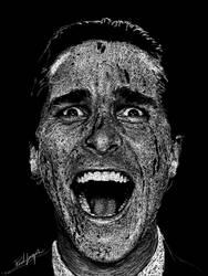 One Stroke: Christian Bale by IAmPencilFingerz