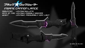 Insane Cannon Lance - Black Rock Shooter by Dalva24