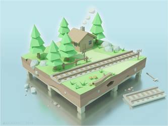 TrainCrossing by ariazake