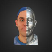 3-866411-3D Scan - Tomas Mayer Levi - 03 - Smile by HumanAnatomy4Artist
