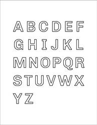 Capital Letters A-Z Chivo Coloring Book Cover by SonKitty