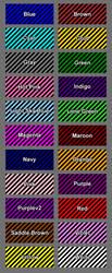 Black Diagonal Stripes by SonKitty