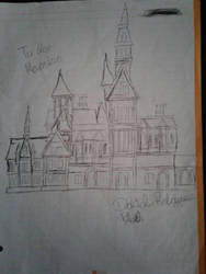 Tudor Mansion Sketch  by PenDoodles0320