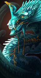 Aquamarine Dragon by DemonML