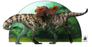 Ceratosaurus Sisters by DemonML