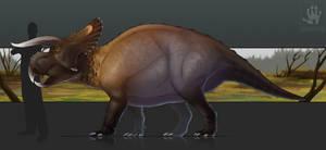 Nasutoceratops by DemonML
