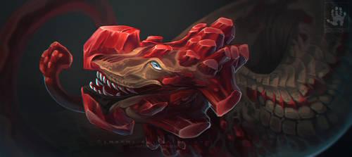 Garnet Dragon by DemonML