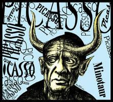 Pablo Picasso, Minotaur Seeker by BenHeine