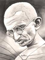 Mahatma Gandhi - 1 - by BenHeine