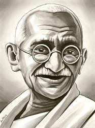 Mahatma Gandhi - 2 - by BenHeine