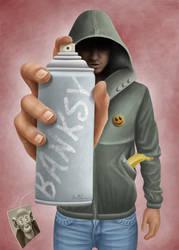 Banksy by BenHeine