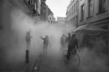 Foggy Day in Brussels by BenHeine