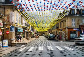 Street in Montignac - 1 by BenHeine