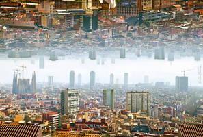 Barcelona - Double Landscape by BenHeine