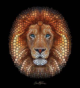 Lion - Digital Circlism by BenHeine