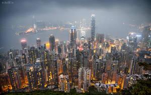 Hong Kong from the Peak by BenHeine
