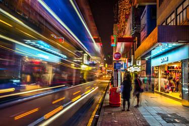 Bus Stop in Hong Kong by BenHeine