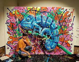 Ben Heine Art - Flesh And Acrylic - Chameleon by BenHeine