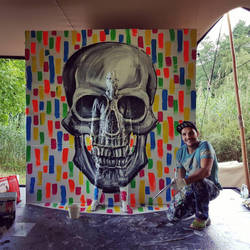 Flesh and Acrylic - Skull by BenHeine