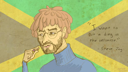 Steve Jobs with dreads by Sexypotato