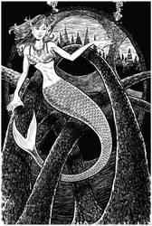 Mermaid and the Arches by DavidAyala