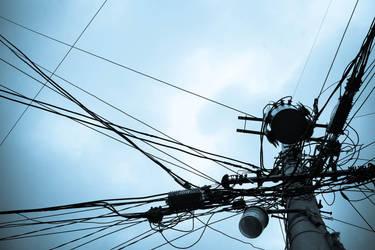 telegraph pole by januarius