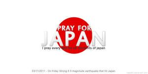 Pray For Japan by mazeko