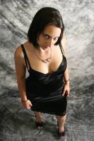 danielle black dress by jesifer9