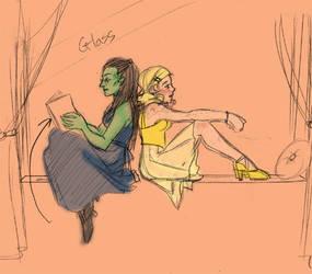 Elphaba + Glinda: Best Friends by Oboe