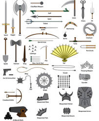 Types Of Weapons by LucienVox
