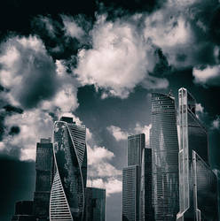 #MoscowCity #Clouds #Cityscape #Sky by ubinko