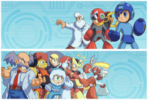 Megaman boardgame game side art by Brolo