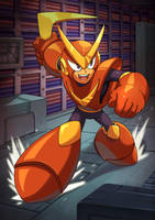Quick Man - Megaman Rise of the Masters by Brolo