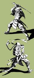 samurai design by Brolo