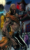 Cyberpunk Monk by WolfMagnum