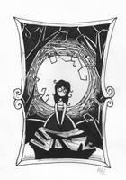 Inktober #2: Tranquil by Frudur