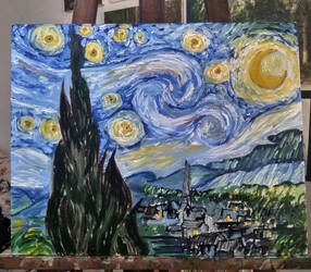Van Gogh S The Starry Night Re Reading by raphaelcozzi