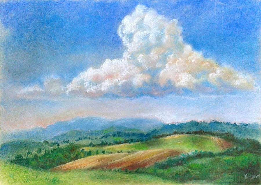 Landscape under clouds by artoftas
