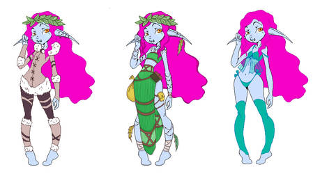 Ama'rhite Outfits 01 by Bluence