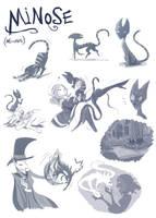 Minose: Sketch Dump by ChibiDonDC