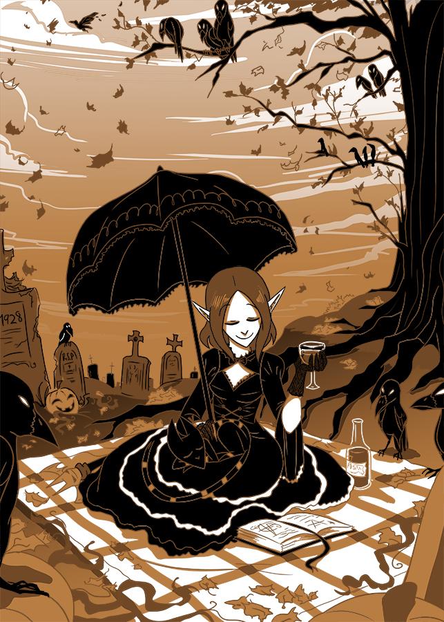 Vampiress of Autumn by ChibiDonDC