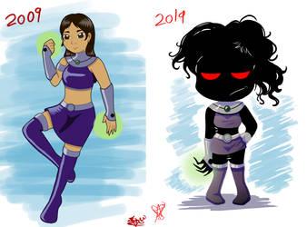 2009 VS 2019 by ChibiDonDC
