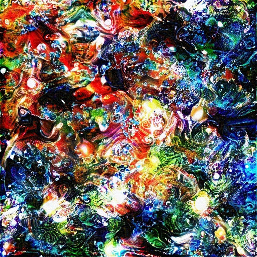 Hubble Deep Field Deep Dream Layering by fulmarmusic