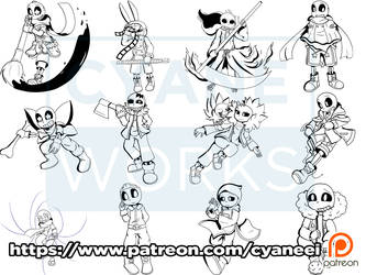 Patreon Line Pack 3 by CyaneWorks
