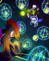 .:Collab:. Quantumtale x Underchaser by CyaneWorks