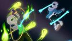 Chaser VS Sans battle by CyaneWorks