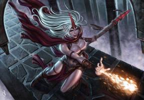 Red Sorceress by SaraForlenza