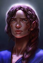 Girl portrait by SaraForlenza